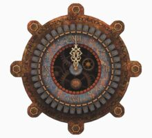 Steampunk Clock Face T-shirts and Stickers by Steve Crompton
