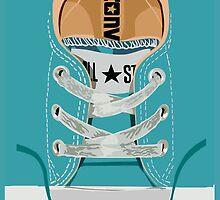 Sale for Charity Blue teal Baby Shoes by Latifa Salma lufa Poerawidjaja