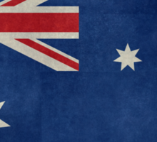 The National flag of Australia, retro textured version (authentic scale 1:2) Sticker