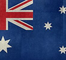 The National flag of Australia, retro textured version (authentic scale 1:2) by Bruiserstang