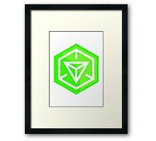 Ingress Game Logo - Green (Enlightened) Framed Print