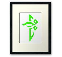 Ingress Enlightened Logo - Green Framed Print