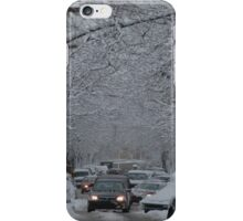 Montreal streest after a snowstorm iPhone Case/Skin
