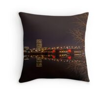The Eastbank Esplanade in Portland, Oregon Throw Pillow