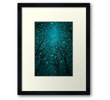 Silently, One by One, the Stars Blossomed (Geometric Stars Remix) Framed Print