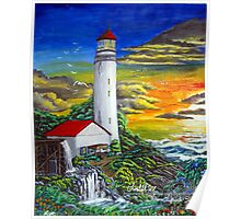rusty lighthouse Poster