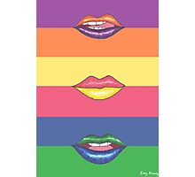 Double Color Lips Photographic Print
