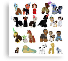 Star Wars Ponies Canvas Print