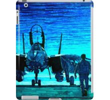 moonlight mission-an f14 tomcat fighter pilot walks to his plane iPad Case/Skin