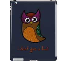 i don't give a hoot iPad Case/Skin
