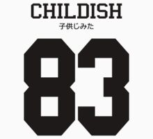 Childish Jersey: Black Font by ngud