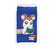 Maxwell with Books Duvet Cover