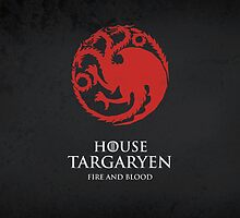 House Targaryen Duvet Cover by Cian Breathnach