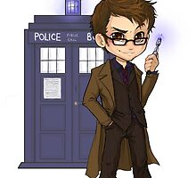 Chibi 10th Doctor by elliem-