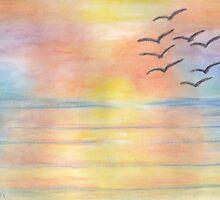 Rainbow Sunset by Linda Allan