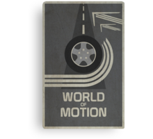 World of Motion Canvas Print