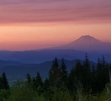 Mt Adams Sunset by Bill Lane
