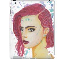 Skittles - Colorful Watercolor Portrait iPad Case/Skin