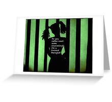 Harley Quinn Green Greeting Card