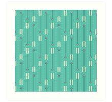 Arrows_Turquoise Art Print