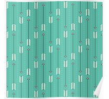 Arrows_Turquoise Poster