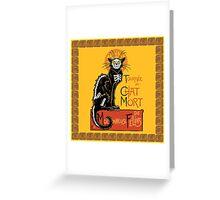 La Chat Mort Greeting Card