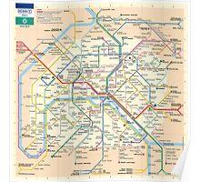 Paris Metro Map Poster