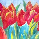 Red Tulips by Linda Allan