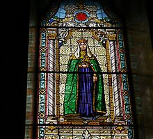 Stained glass Window, The Orthodox Cathedral of St George, Novi Sad, Serbia by Margaret  Hyde