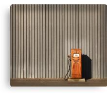 rusty petrol pump Canvas Print