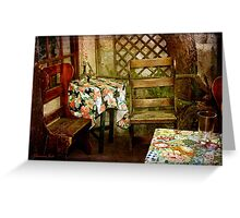 Crooked Chair at the Corner Table Greeting Card
