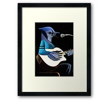 **¨*•MY BLUE JAY PLAYING GUITAR AND SINGING ME A SONG PICTURE /CARD>> ALSO ANIMATED HIM **¨*• Framed Print