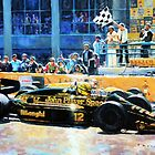 Senna vs Mansell F1 Spanish GP 1986 by Yuriy Shevchuk
