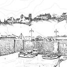 Harbour at Crail in Fife, on the East Coast of Scotland [ Digital Illustration] by Grant Wilson