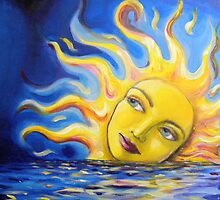 Solar Goddess Setting Sun by shellrose