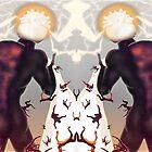 Falling in line [Mirrored version] Digital Fantasy Figure Illustration by Grant Wilson