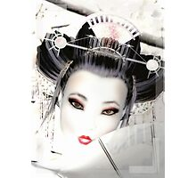Geisha - White Cherry Geisha Photographic Print