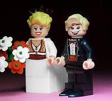 Lego Bride and Groom by Kevin  Poulton - aka 'Sad Old Biker'
