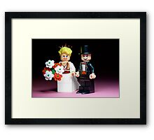 Lego Bride and Groom ( with top hat ) Framed Print