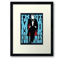 Quotable Who - Third Doctor Framed Print