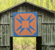 Kentucky Barn Quilt - Happy Hunting Ground Sticker
