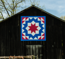 Kentucky Barn Quilt - Carpenters Wheel Sticker