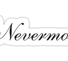 Simple Nevermore Sticker