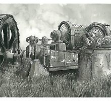 Abandoned Mining Equipment by Jonathan Baldock
