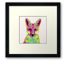 Psychedelic Fox Framed Print