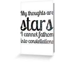 The Fault in Our Stars - My Thoughts Greeting Card