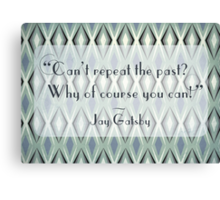 Illustrated Gatsby Quote Canvas Print