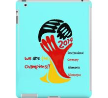 FIFA World Cup Champion Germany Deutschland Glückwunsch iPad Case/Skin