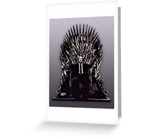 Underwood on the Iron Throne Greeting Card