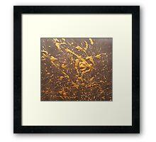 Erobian Gold Framed Print